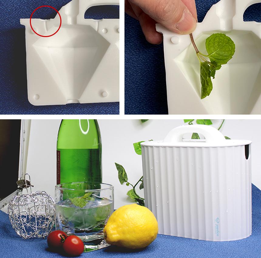 誰でも透き通った透明な氷をご自宅で簡単に作る事ができます