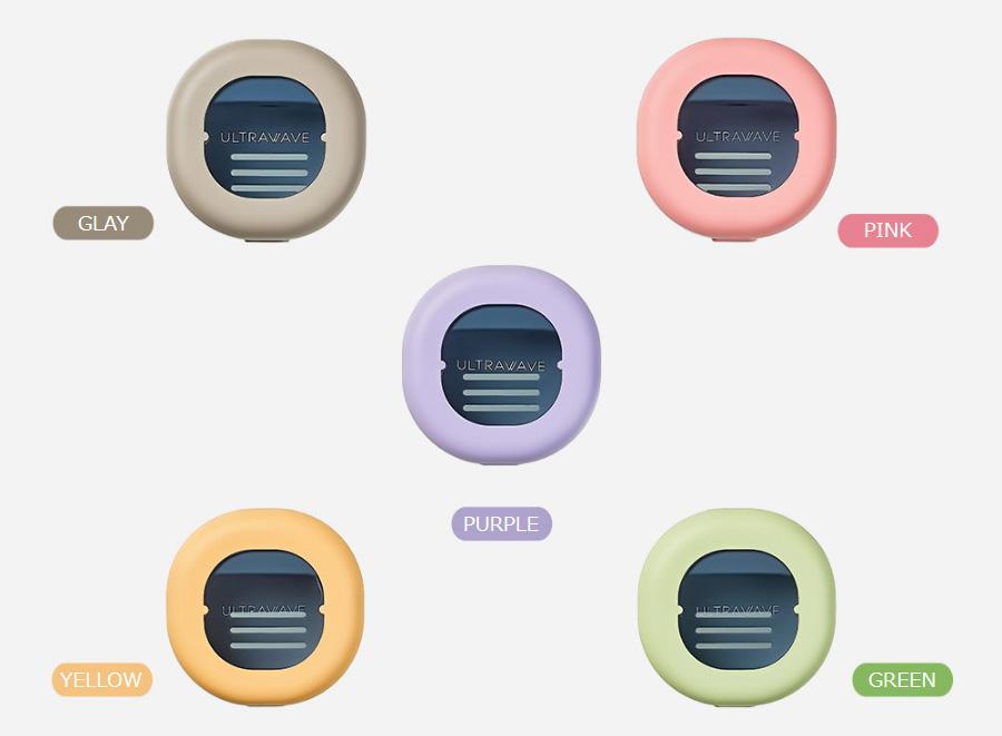 歯ブラシ除菌キャップコンパクト「型番TS-00」のカラーは5色MDK-TS00